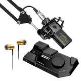 莱维特STREAM 4x5声卡(黑色)搭配莱维特LCT 440 PURE麦克风 电脑手机直播K歌声卡套装 抖音快手主播直播录音设备全套