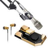 莱维特STREAM 4x5声卡(金色)搭配纽曼KMS105麦克风 电脑手机直播K歌声卡套装 抖音快手主播直播录音设备全套