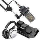莱维特STREAM 4x5声卡搭配爱科技C214麦克风   录音套装