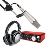 富克斯特2i2声卡搭配罗德NT1000麦克风 录音套装