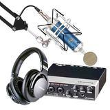 雅马哈UR22 MKII声卡搭配BlueBird SL蓝鸟麦克风 网K直播套装