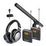 铁三角AT897采访麦搭配森海塞尔ew 122-p G3无线ENG话筒   影视同期录音套装