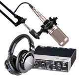 雅马哈UR22声卡搭配铁三角AT2035麦克风 录音套装