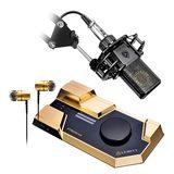 莱维特STREAM 4x5声卡搭配莱维特LCT 440 PURE麦克风  网络直播K歌