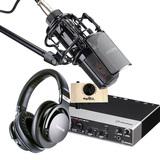雅马哈UR242声卡搭配得胜PC-K850麦克风  网络K歌套装
