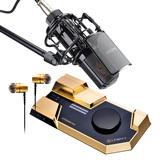 莱维特STREAM 4x5声卡(金色)搭配得胜PC-K850麦克风 网络直播K歌