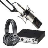雅马哈UR RT2声卡搭配森海塞尔MK4麦克风   精通级录音套装