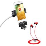 ZOOM iQ5麦克风搭配红豆耳机 手机录音K歌套装