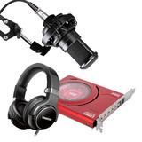 创新Sound Blaster Z声卡搭配得胜PC-K220麦克风   电脑主播K歌喊麦声卡套装 YY繁星主播游戏直播录音设备全套