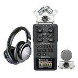 ZOOM H6 录音机搭配得胜PRO82耳机    影视同期录音套装