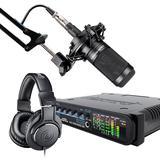马头Audio Express声卡搭配铁三角AT2050麦克风 网K套装