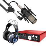 富克斯特Scarlett 6i6声卡搭配AKG P420麦克风 单人录音套装