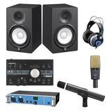 RME Fireface UCX声卡搭配爱科技C414XLII麦克风+爱科技C1000S乐器麦克风 小型录音棚套装