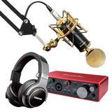 富克斯特2i2三代声卡搭配得胜K820麦克风 录音套装