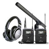 铁三角AT897采访麦搭配森海塞尔EW112P G4无线ENG话筒   影视同期录音套装