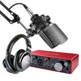 得胜TAK45麦克风搭配富克斯特三代2i2声卡 专业个人录音配音设备套装