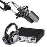 得胜TAK55麦克风搭配雅马哈UR RT2声卡 专业个人录音配音设备套装