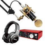 富克斯特2i2声卡搭配得胜K820麦克风 录音套装