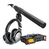 TASCAM DR-70D单反录音机搭配罗德NTG2麦克风    影视同期录音套装
