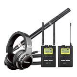 麦拉达WM9无线麦克风搭配得胜SGC-568枪式麦克风   影视同期录音套装