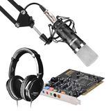 创新A4声卡搭配得胜K600麦克风 网K套装