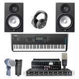 罗兰STUDIO-CAPTURE声卡搭配舒尔DMK57-52鼓套装麦克风   乐队录音套装