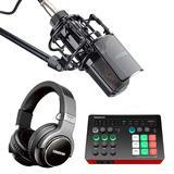 得胜MX1声卡搭配得胜PC-K850麦克风 电脑手机直播K歌声卡套装 抖音快手主播直播录音设备全套
