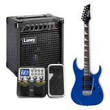依班娜GRG170DX 电吉他搭配小天使MG-100 效果器    电吉他套装