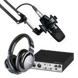 雅马哈UR RT2搭配舒尔PGA27 麦克风 网络直播录音配音套装