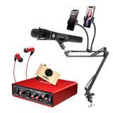 艾肯MOBILE·U VST声卡搭配Blue EN CORE 300麦克风   电脑手机直播K歌声卡套装 抖音快手主播直播录音设备全套