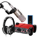 艾肯Utrack VST声卡搭配得胜K200麦克风 网K歌直播套装