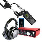 富克斯特Scarlett 2i4二代搭配莱维特LCT 240 PRO麦克风   电脑手机直播K歌声卡套装 抖音快手主播直播录音设备全套