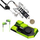 莱维特STREAM 4x5声卡(绿色)搭配Blue Baby Bottle SL麦克风 电脑手机直播K歌声卡套装 抖音快手主播直播录音设备全套