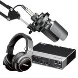 得胜TAK45麦克风搭配雅马哈UR242声卡 专业个人录音配音设备套装 K歌直播套装