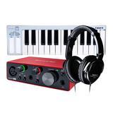 富克斯特三代solo声卡搭配艾肯i.Key 25键键盘 入门编曲制作套装