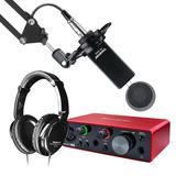 富克斯特solo声卡搭配得胜PC-K800麦克风 录音套装