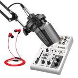得胜TAK35麦克风搭配雅马哈AG03声卡 电脑手机直播K歌声卡套装 抖音快手主播直播录音设备全套