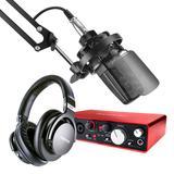 得胜TAK45麦克风搭配 富克斯特2i4声卡专业个人录音配音设备套装