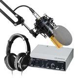 雅马哈UR12声卡搭配得胜PC-K550P麦克风   录音套装