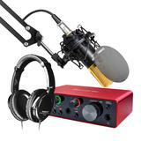富克斯特solo三代声卡搭配得胜PC-K550P麦克风   录音套装