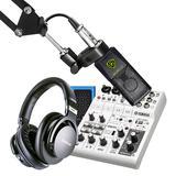 雅马哈AG06调音台搭配莱维特LCT240PRO麦克风 电脑手机直播K歌声卡套装 抖音快手主播直播录音设备全套