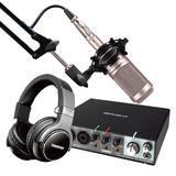 罗兰Rubix 24声卡搭配铁三角AT2035 专业个人录音配音设备套装