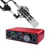 富克斯特solo三代声卡搭配得胜PC-K600麦克风 电脑手机直播K歌录音设备套装