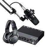 雅马哈UR 24C声卡搭配舒尔PGA27 专业个人录音配音设备套装