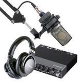 Steinberg/YAMAHA 雅马哈UR 24C声卡搭配AKG C214麦克风 专业个人录音配音设备套装