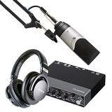 雅马哈UR 24C声卡搭配森海塞尔MK4麦克风 专业个人录音配音设备套装