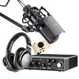 雅马哈UR22c声卡搭配得胜PC-K850麦克风  网络K歌套装