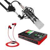 得胜MX1声卡搭配得胜PC-K600麦克风 手机K歌直播套装 抖音快手全民K歌室内唱歌设备全套