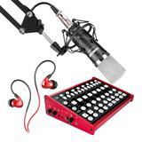 客所思KX6声卡搭配得胜PC-K600麦克风 电脑手机直播K歌声卡套装 抖音快手主播直播录音设备全套