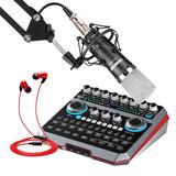 声佰乐B6声卡搭配得胜K600麦克风  手机电脑直播K歌套装